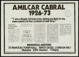 «Amilcar Cabral 1926-73: Memorial meeting»