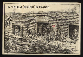 "A Y.M.C.A. ""Dug-out"" in France / Edgar Wright"
