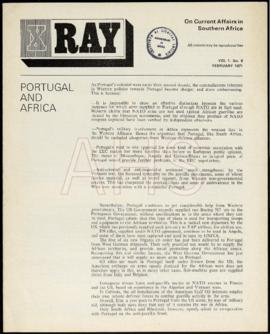 «X Ray on Current Affairs in Southern Africa: Portugal and Africa»