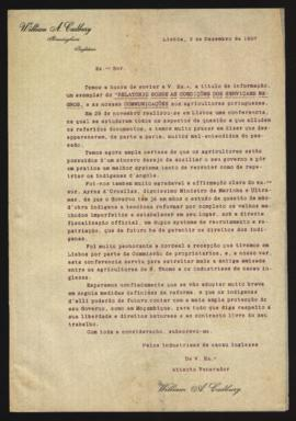 Carta de William A. Cadbury