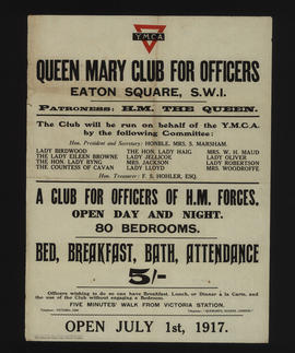 Y.M.C.A. Queen Mary club for Officers