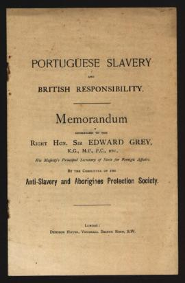 Portuguese Slavery and British Responsibility