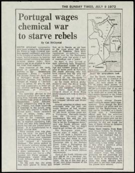 """Portugal wages chemical war to starve rebels"""