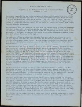 «Statement on the Portuguese Invasion of Guinea (Conakry)