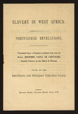 Slavery in West Africa. Portuguese Revelations